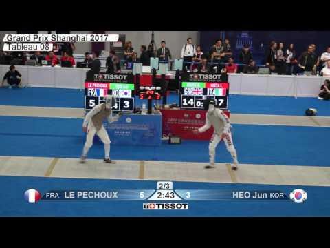 FE M F Individual Shanghai Grand Prix 2017 T08 03 blue HEO KOR vs LE PECHOUX FRA