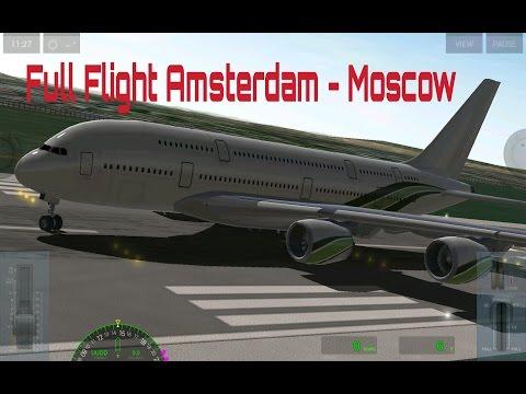 Extreme Landings - Full Flight Amsterdam (EHAM) - Moscow (UUDD)