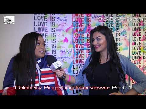 Celebrity Ping-Pong- Paddle Of The Sexes 3 - Interviews by Lulu Lopez- Part 1- ShowBizMedia.net