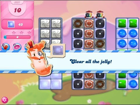 Candy Crush Saga Level 3237 (10 moves, 3 stars, No boosters)