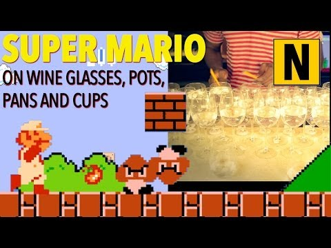 College Student Plays 'Super Mario Bros.' Theme Song With Wine Glasses (VIDEO)