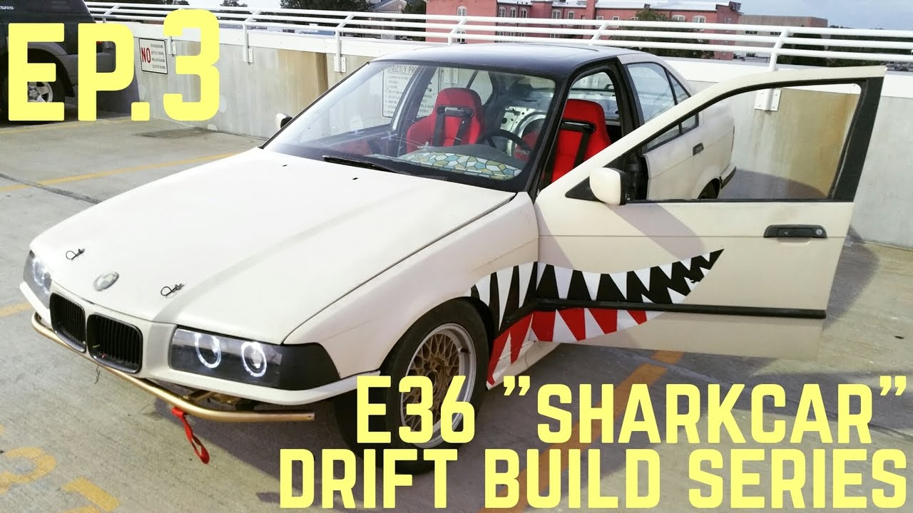 "Download RACING HARNESSES! : BMW E36 325i ""Sharkcar"" Drift Build Ep.3"