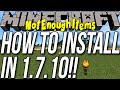 How To Install NotEnoughItems In Minecraft 1.7.10