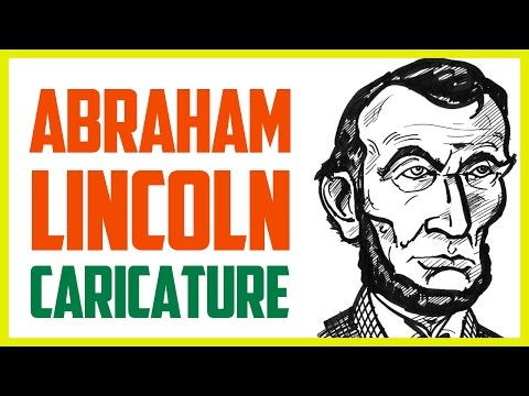 ABRAHAM LINCOLN CARICATURE | How To Draw A Caricature Of Abraham Lincoln