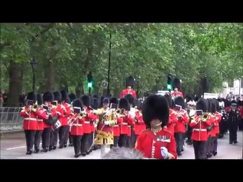Irish Guards Band, State Opening of Parliament 04-06-14