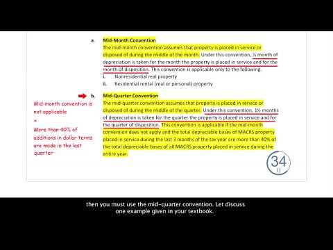Free CPA Exam Video - REG - MACRS Conventions (Depreciation