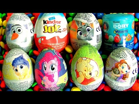 Children Toys Surprise Kinder Inside Out My Little Pony Pinkie Pie POOH Sofia Dory Frozen OLAF M&MS