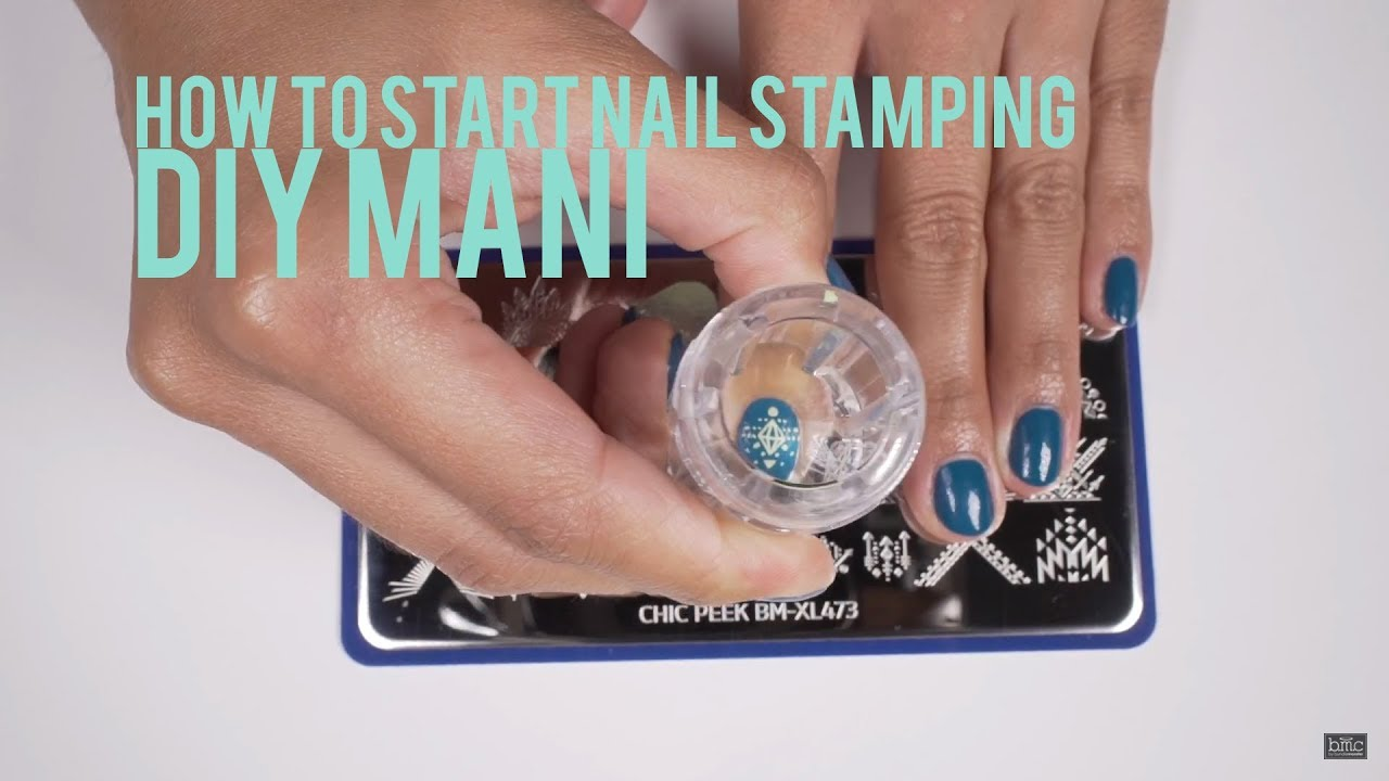 How To Start Stamping Your Nails: DIY Mani - YouTube