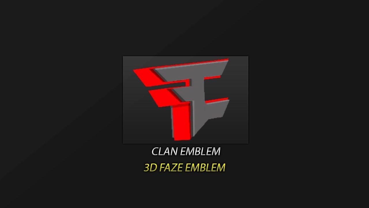 Black Ops 2 Emblem Tutorial Faze Logo 3d Hd Best Youtube