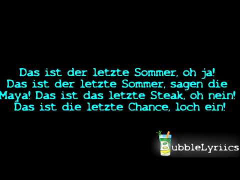 Y-Titty - Der Letzte Sommer [Official Lyrics Video | HD/HQ]