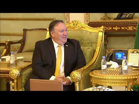 US Sec. of State Pompeo lands in Saudi Arabia
