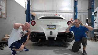 We FINALLY Made The F12 LOUDER! (Ferrari Exhaust Valve DELETE)
