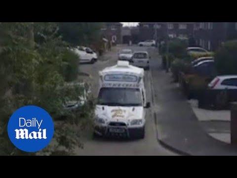 World Cup fever:  ice cream van man gets