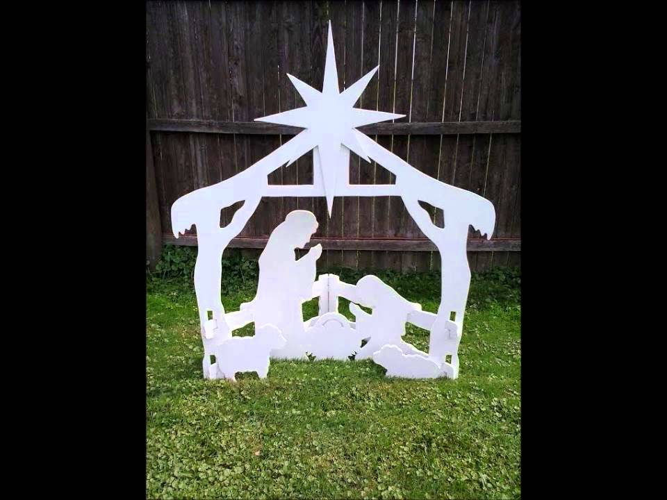 Christmas Outdoor Nativity Yard Display Set Youtube