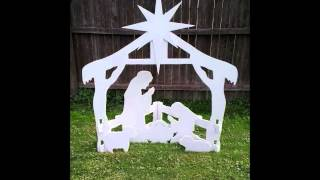 Christmas Outdoor Nativity Yard Display Set