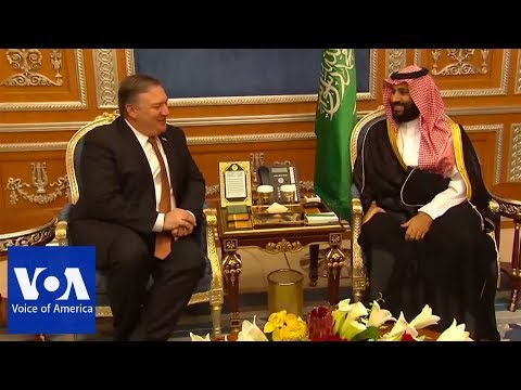 US Secretary of State Mike Pompeo meets with Saudi Crown Prince Mohammed bin Salman