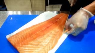 Cortar Salmon Para Sushi Nigiri - Japan Cut Nigiri Sushi