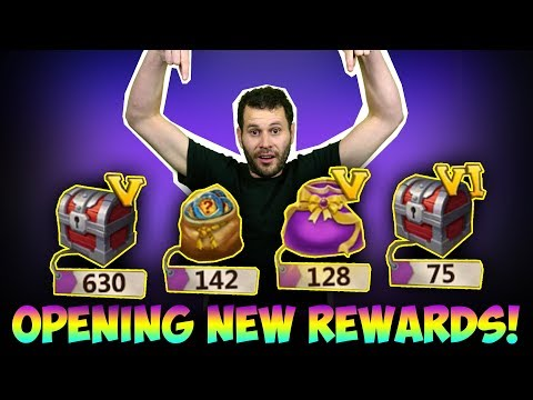 Opening New Rewards Chests INSANE Amounts Castle Clash