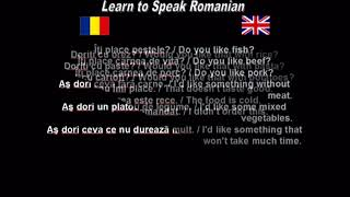 Learn to Speak Romanian 19. At the restaurant - part 2