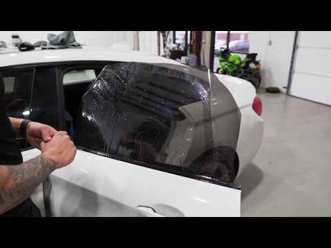 How To Tint A Frame-less Rear Door Window - BMW Gran Coupe