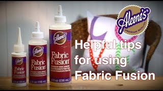 Helpful Tips for using Aleene's Fabric Fusion