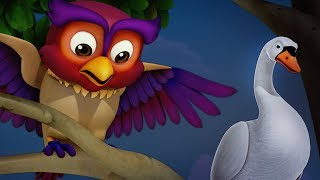 The Swan and the Owl Bengali Stories for Children   Infobells