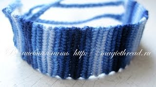 Фенечка прямого плетения 1 урок Меланж