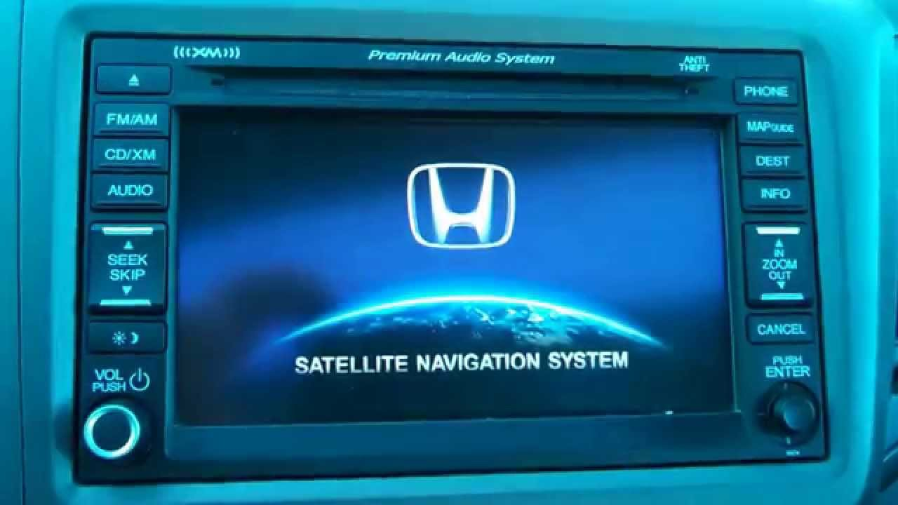 12 14 Honda Civic Crv Navigation Reset Clear Navi Delete Gps Info You