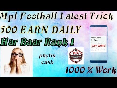 Mpl Latest Football Game Trick, Har Baar Win Karoge, 100% Working Trick,