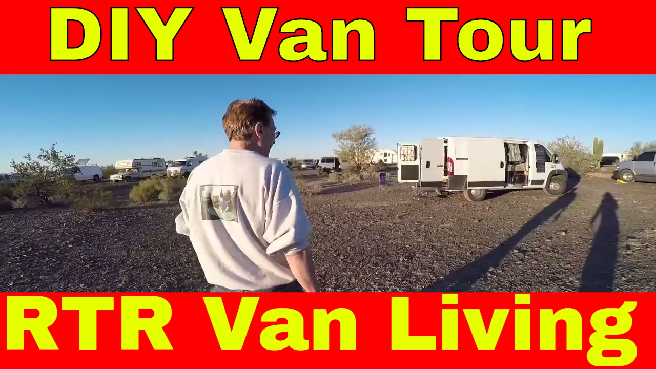 RTR Van Living Tour Of DIY Dodge Promaster Camper Conversion With PanMan