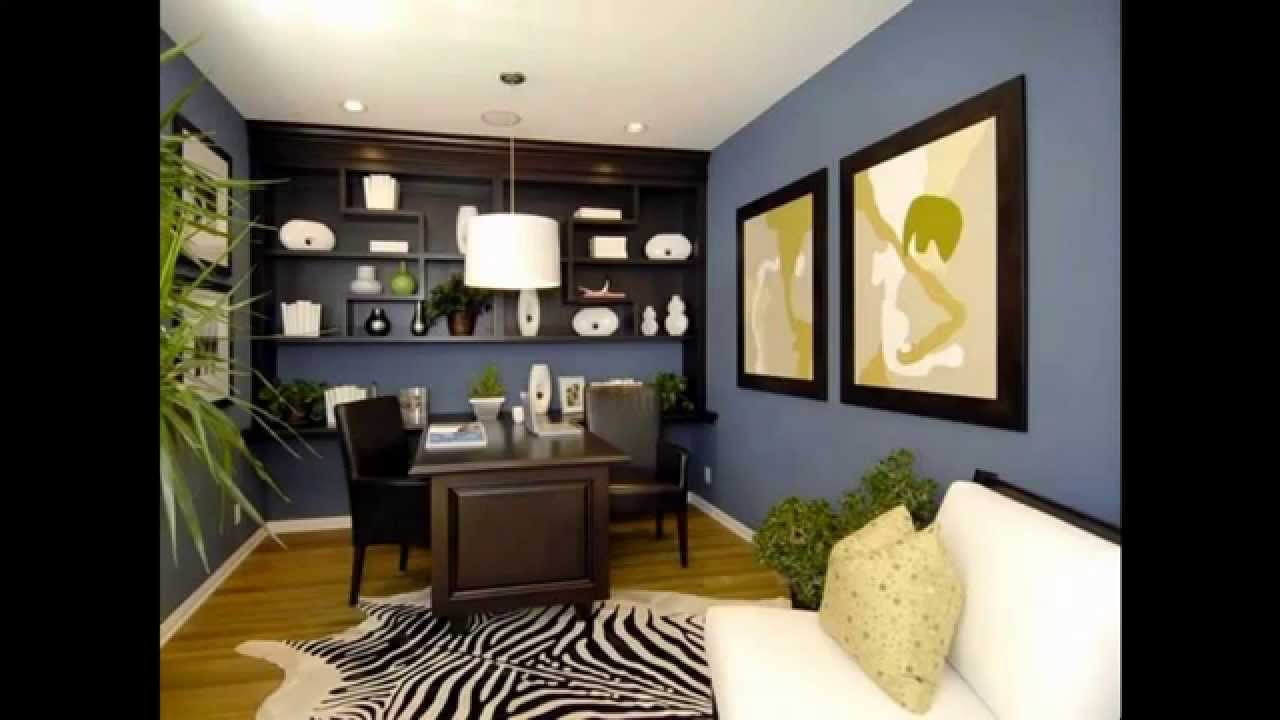 cool home office wall color ideas youtube. Interior Design Ideas. Home Design Ideas