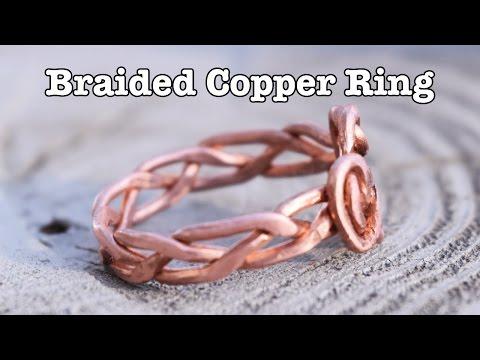 DIY Braided Copper Ring