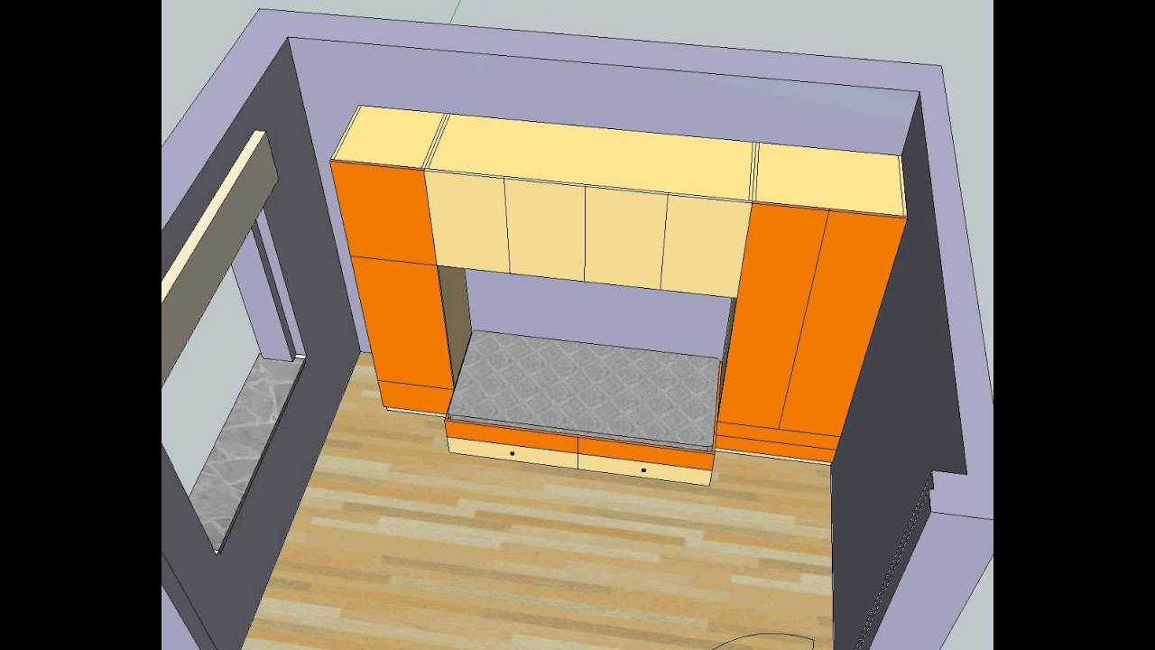 Sketchup Cameretta A Ponte Youtube