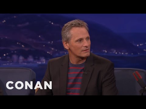 Viggo Mortensen's Pet Duck   CONAN on TBS