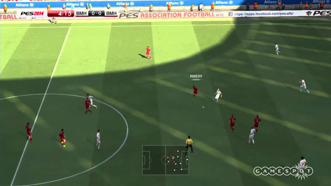 PES 2014 - FIRST GAMEPLAY 1ST HALF HD - YouTube