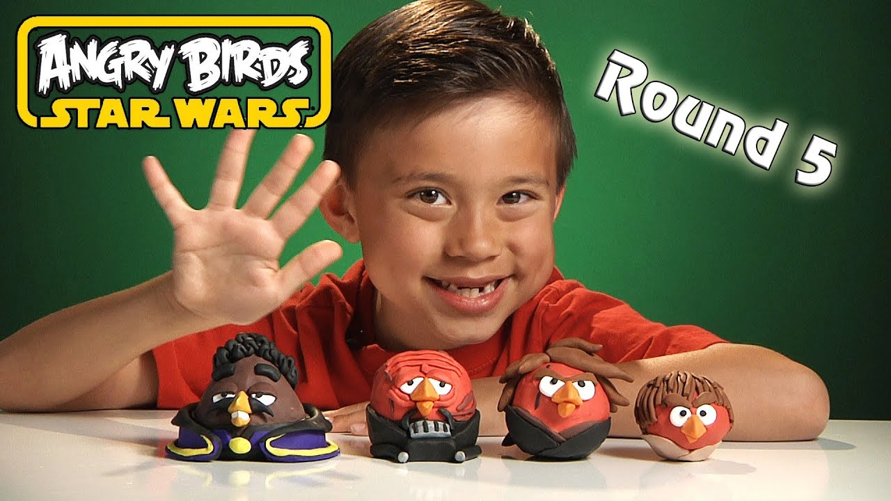 NEW Angry Birds STAR WARS Clay Models Round 5  Lando Calrissian