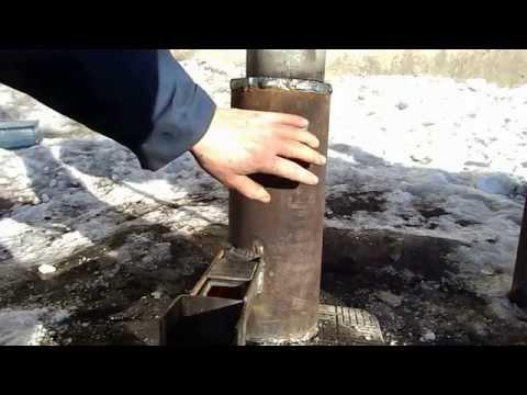 печь-горелка на отработке. Без заморочек и сложностей.