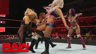 Sasha Banks vs. Natalya vs. Ember Moon vs. Alexa Bliss - Fatal 4-Way Match: Raw, June 11, 2018