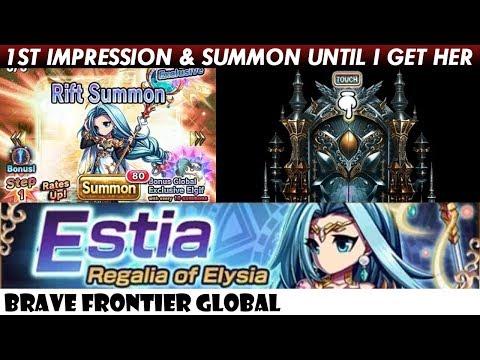 Estia, Regalia of Elysia 1st Impression Review & Rare Summon Until I Get Her (Brave Frontier Global)