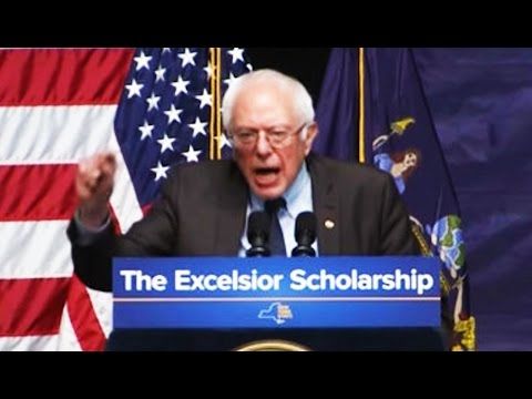 Bernie Sanders Speech in NY: Gov. Andrew Cuomo Adopts Progressive Track Toward Public College