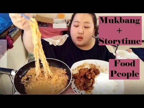 [ Mukbang + STORYTIME! ] Spicy Cheese Ramen & General Tso's Chicken