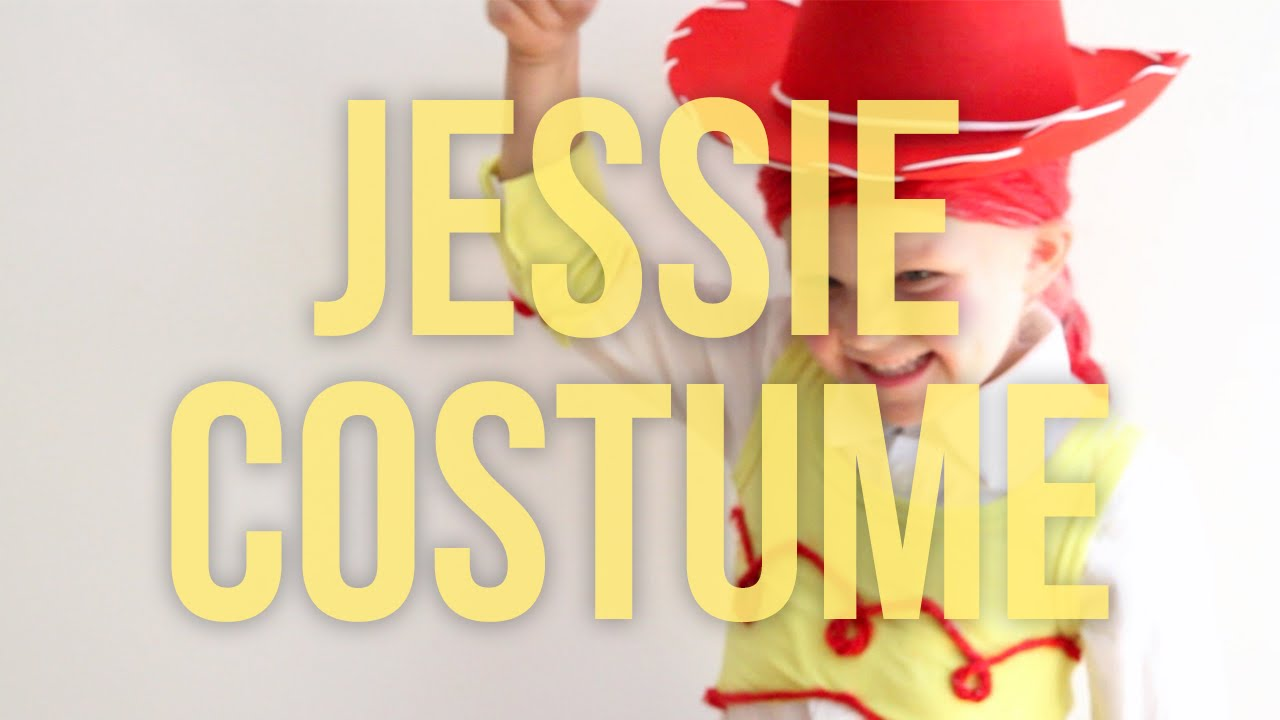 Toy story jessie homemade no sew halloween costume youtube solutioingenieria Images