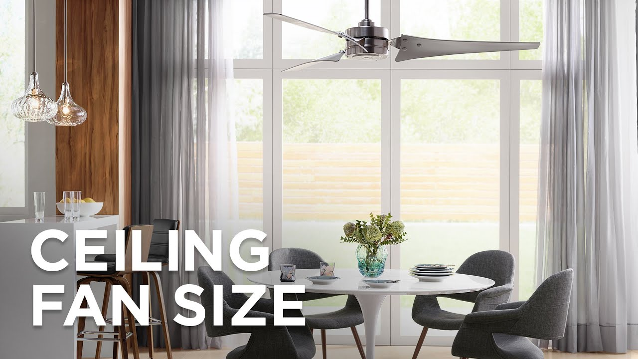 ceiling fan size for living room furniture fort myers fl sizing guide how to choose lamps plus