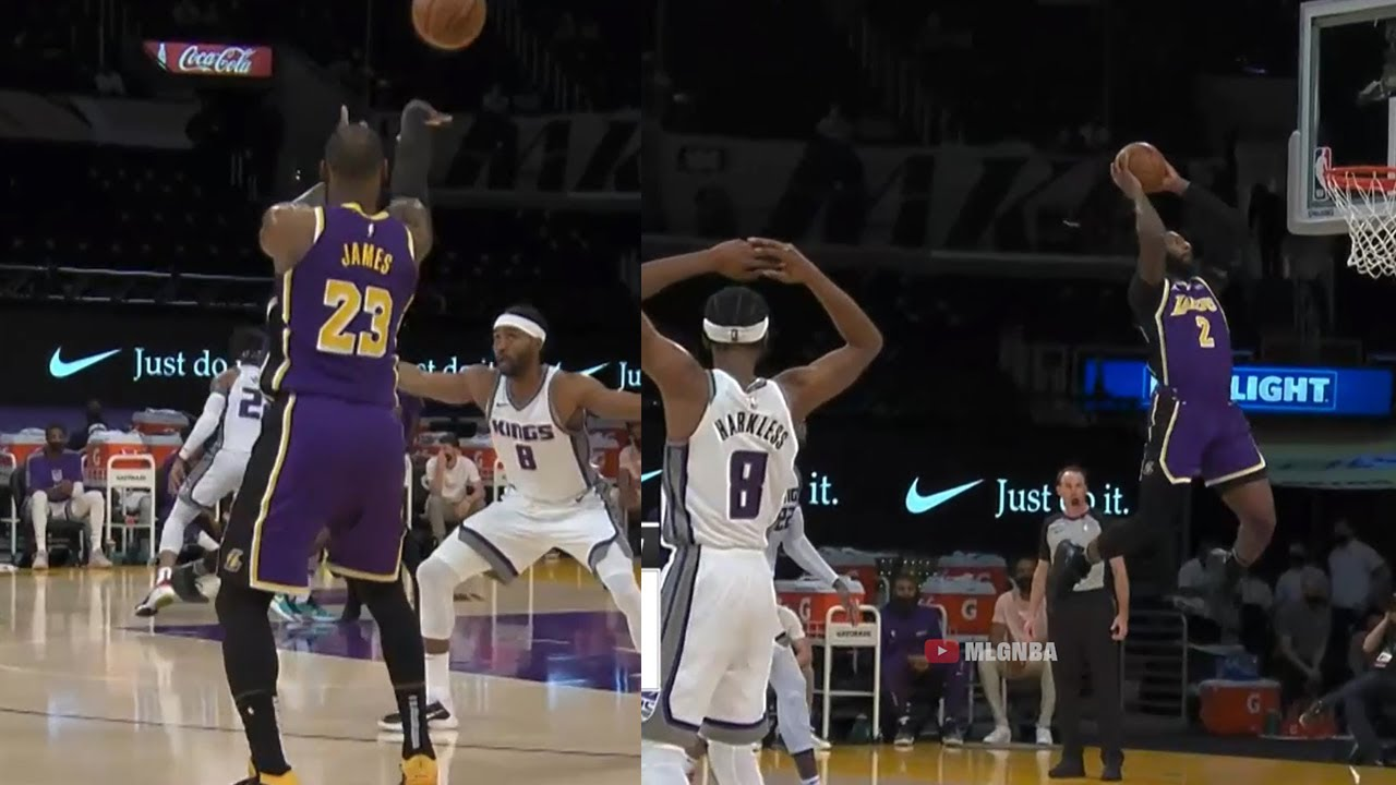 LeBron James to Andre Drummond first official alley oop