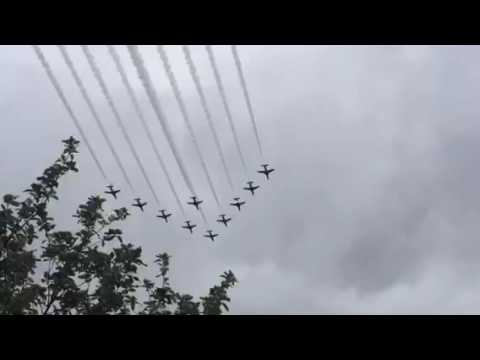 Red Arrows Flypast Newark on Trent