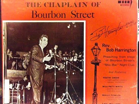 Chaplain of Bourbon Street preaching at Sho-Bar Night Club on 08/24/1966