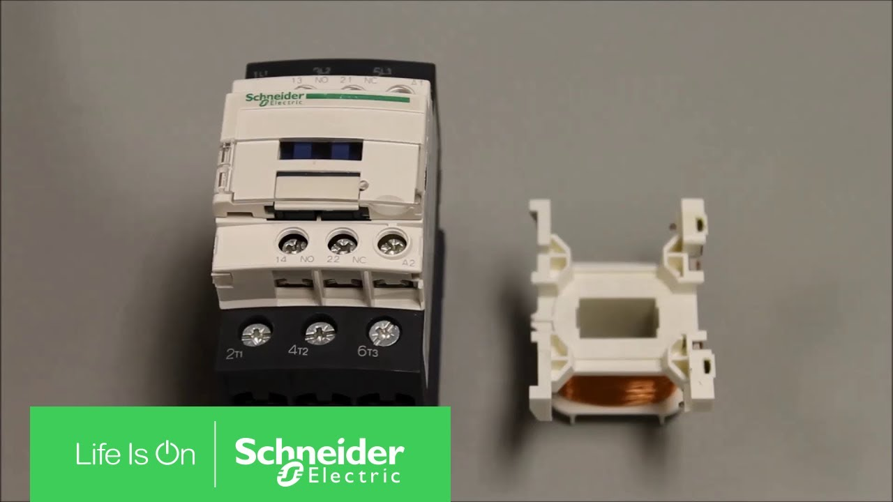 replacing ac coil on a tesys d series contactor schneider electric support [ 1280 x 720 Pixel ]
