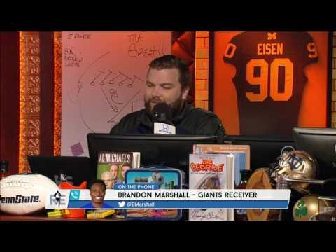 New York Giants WR Brandon Marshall The Chances of Christian Hackenberg Starting For Jets - 3/10/17