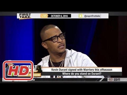 ESPN First Take - T.I. On Us or Else, Kevin Durant & Falcons (FULL)2017