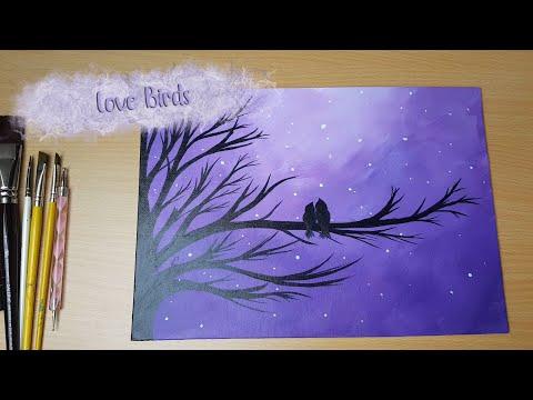 Love Birds - Acrylic Painting